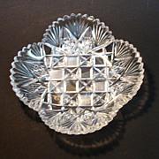 SALE Brilliant Cut Glass Square Dish