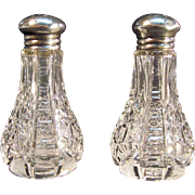 Cut Glass Salt and Pepper Shakers ca. 1900
