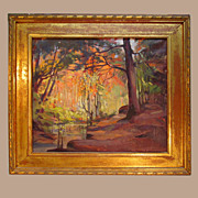 Oil on Canvas Woodland Scene 1930 - 1940