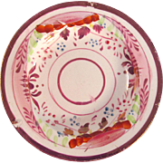 Pink Luster Miniature Plate circa 1825