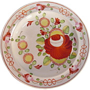 """King's Rose"" Plate ca. 1820 (restored)"
