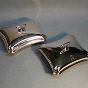 Pair Sheffield Plate Serving Dishes