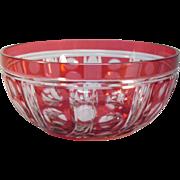 Cranberry Overlay Bowl
