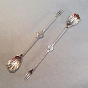 Pair Sterling Victorian Pickle/Olive Forks