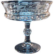 SALE Etched Dakota Pattern Glass Compote ca. 1890