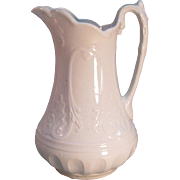 "White Ironstone Wash Pitcher ""New York Shape"" ca. 1860"