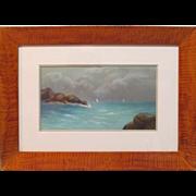 19th Century Pastel Seascape