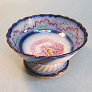 "Luster Compote with ""Faith"" Transfer ca. 1840"