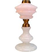 19th Century Opal Glass Oil Lamp
