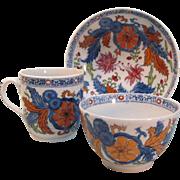 New Hall Porcelain Trio ca. 1800