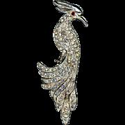 Large Rhinestone Cockatoo Bird Pin