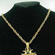 Beautiful Coro Craft Jeweled Pendant, 1950's.