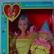 NRFB Mattel 1986 Heart Family Surprise Party with Mom and Baby!