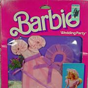 NRFB Skipper Flower Girl Set from the Mattel 1984 Barbie Wedding Party Series.