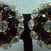 Vintage Miriam Haskell Rhinestone Earrings, Mint Condition, 1960's!