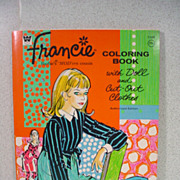 WHIteman Francie Coloring Book with Paper Doll and Clothing, 1967