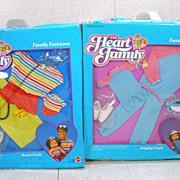 Two Mattel NRFB Heart Family Fashions, 1985