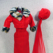 Vintage Mattel Barbie Outfit, Matinee Fashion with Spikes, 1965