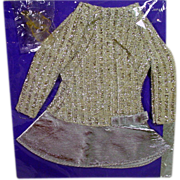 "SOLD Vintage Mattel Barbie Outfit, ""Salute To Silver"" Sealed on Card, 1969"