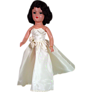 Beautiful Brunette Mary Hoyer Doll, HP, 1950's