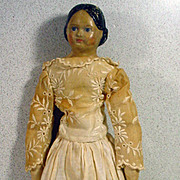 Antique Milliners Model Lady Doll, Circa 1800's