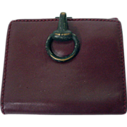 Vintage Gucci Burgundy Leather Ladies Wallet