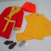 Vintage Mattel Ken Outfit, Breadfast At 7, 1969, Complete