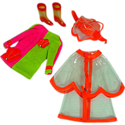 "SOLD Mod Mattel Skipper Outfit, ""Drizzle Sizzle"" 1969"