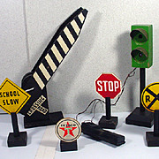 "Vintage, ""G"" Scale, Model Train Accessory Set"