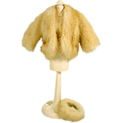 SOLD Vintage Barbie Size Mink Jacket and Matching Hat