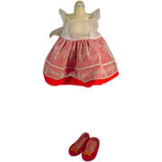 SOLD Mattel Vintage Chatty Cathy Red and White Pinafore and Shoes, 1960