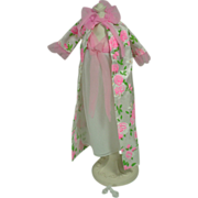 "Vintage 11 1/2"" Fashion Doll Lilli Clone, Negligee and Peignoir Set, 1960's"
