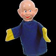 Vintage Walt Disney Dopey of the Seven Dwarfs, Hand Puppet, Crown Toys, 1940's