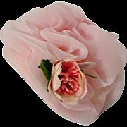 SOLD Vintage Madame Alexander Cissette Pink Tulle Spring Hat with Flower, 1950's