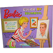 Vintage 1962 Whitman Barbie Color By Number Coloring Book
