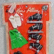Vintage NRFP Ken and Allan Shoes For Sports Set, 1960's, Mattel