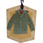 NRFB Mattel Ken Pack Corduroy Jacket, 1962