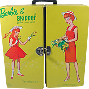 SOLD Vintage Barbie and Skipper Vinyl Carrying Case, 1964, Mattel
