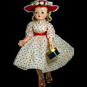 Vintage Madame Alexander Cissy Doll in Polka Dot Ensemble, 1950's