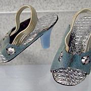 "American Character 14"" Sweet Sue Sophisticate Blue High Heel Shoes, 1957"