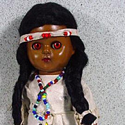 "1950's 8"" American Indian Doll, All Original"