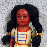 SOLD Small Antique Bisque American Indian Doll, Early 1900's
