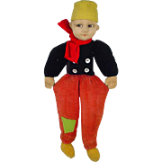 SOLD Vintage Norah Wellings Cloth Dutch Boy Doll, 1930's