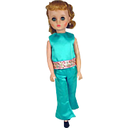 Madame Alexander Elise Doll in Tagged Pant Suit, Late 1960's