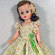 SALE PENDING Vintage Madame Alexander Cissette Doll in Floral Day Dress, 1950's