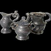 Miniature Coffee/Tea Set, Pot Metal, 1920's