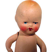 """Small  4"""" Italian Bisque Baby Doll, 1940's"""