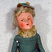 """Antique 11"""" Boudoir Doll, 1920's"""