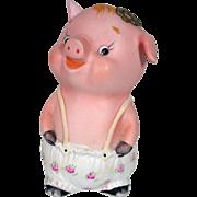 Vintage Porcelain Piggy Bank, Adorable!
