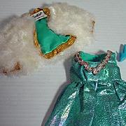 Mint Vintage Mattel Barbie Outfit, Blue Royalty, 1970